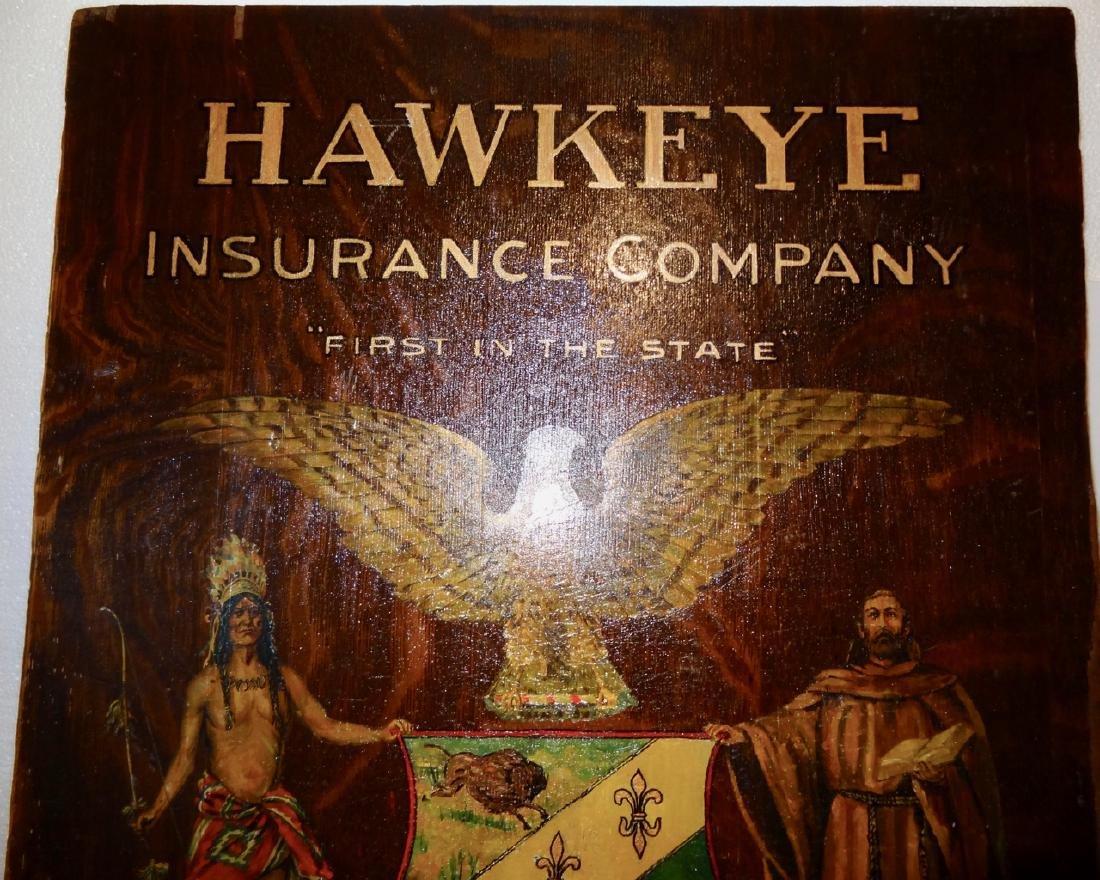 Hawkeye Insurance Oak Sign - 3