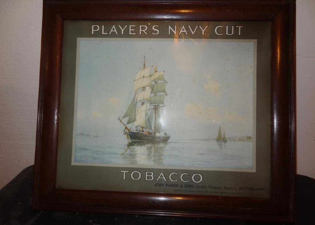 Player's Navy Cut Tabacco Frame Ad.