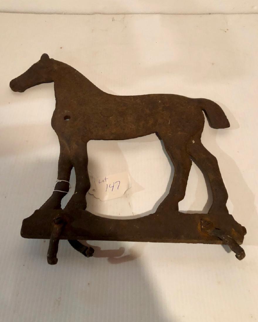 Cast Iron Horse Windmill Weight - 2