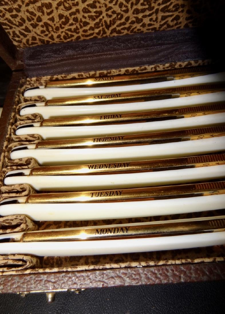 Rare Solingen German 7 Day Razor Set