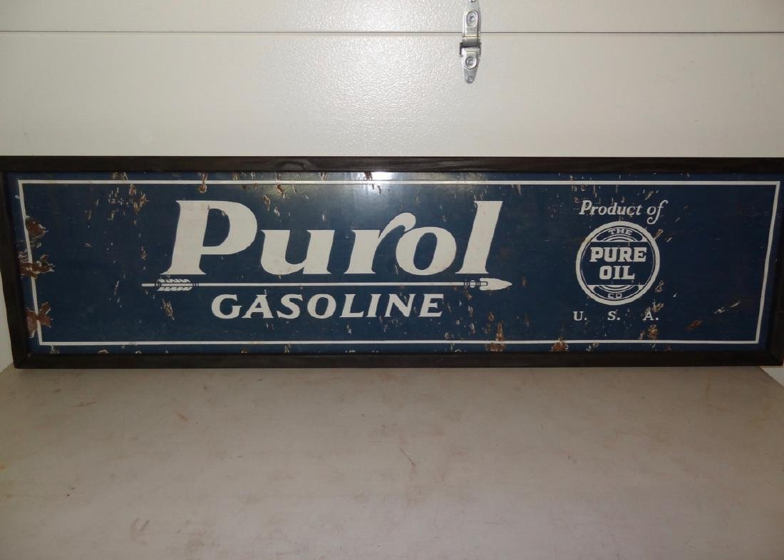 Purol Gasoline Sign