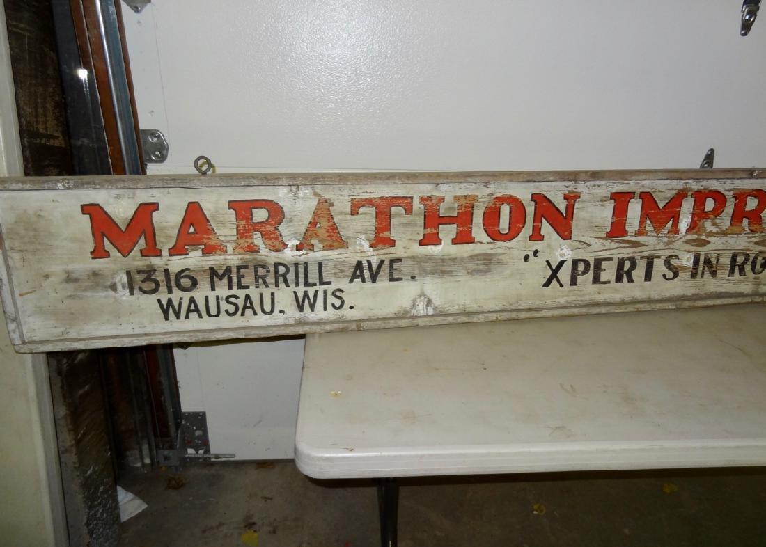 Marathon Improvement Co. Wood Sign - 2