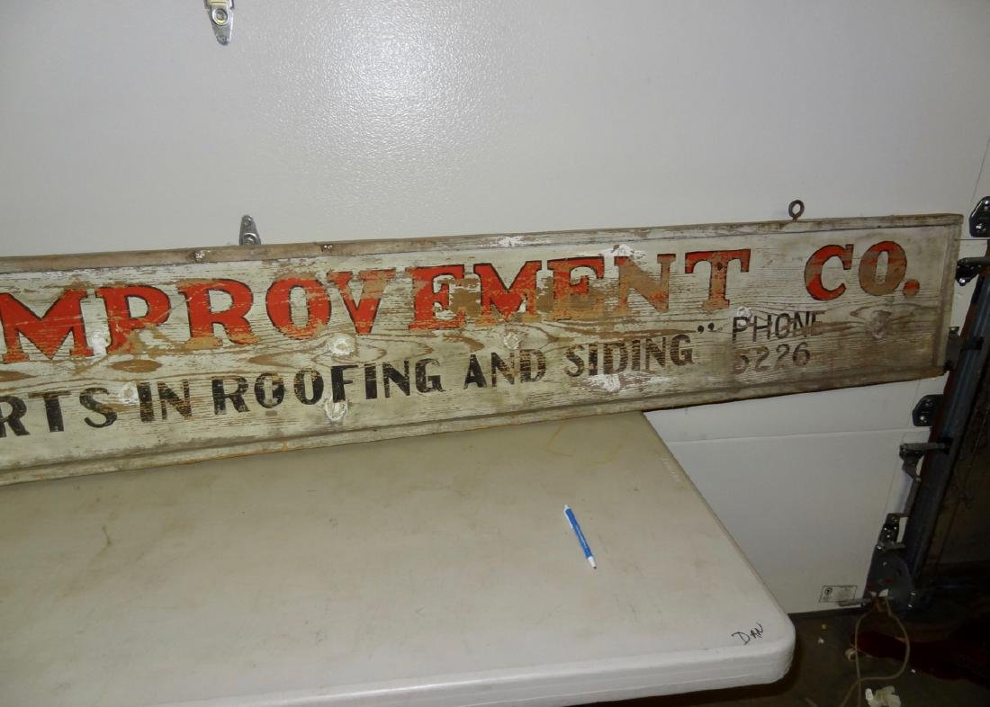 Marathon Improvement Co. Wood Sign - 3