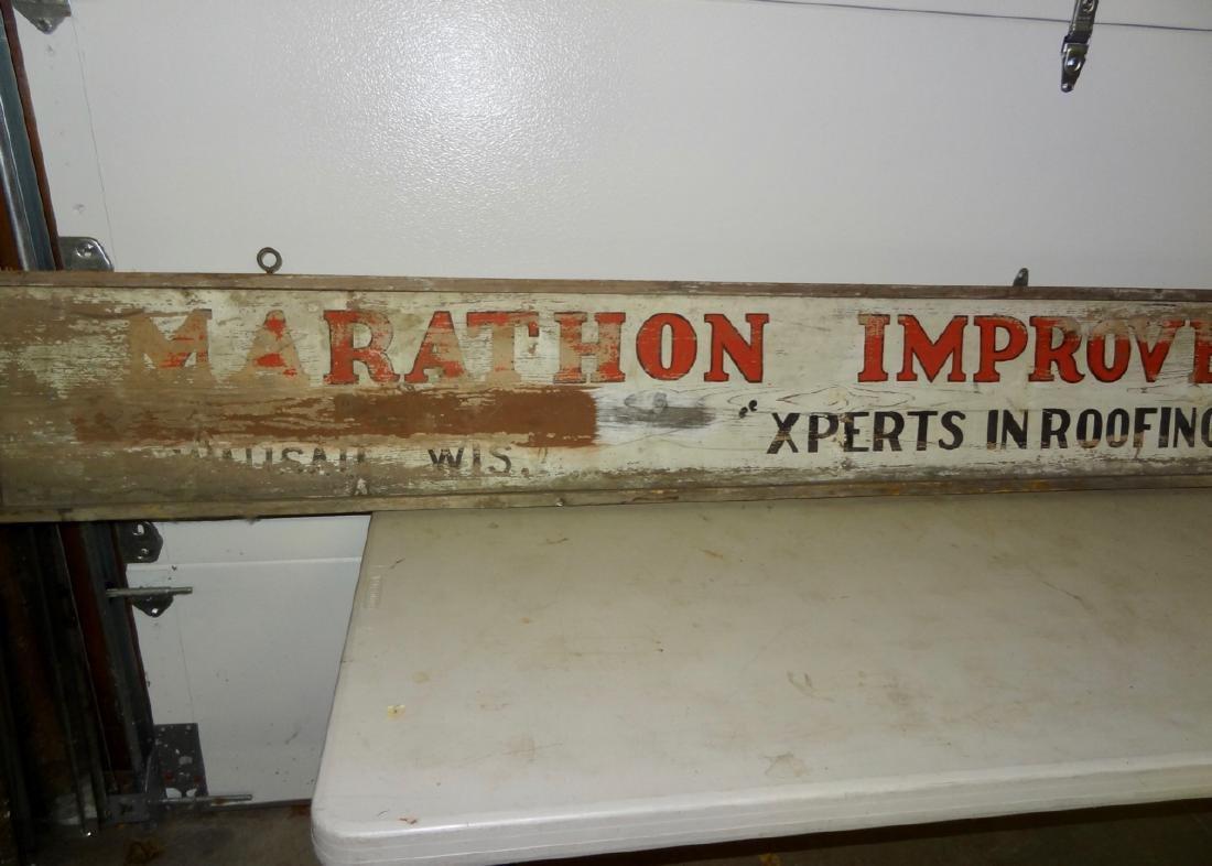 Marathon Improvement Co. Wood Sign - 4