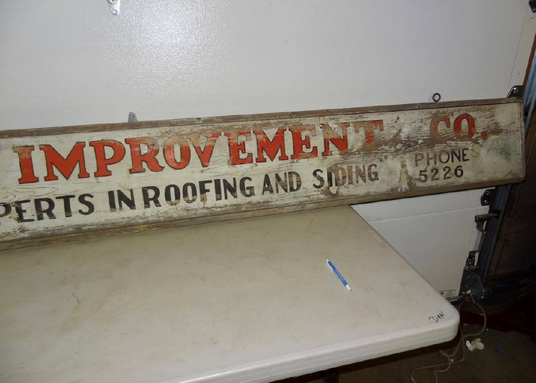 Marathon Improvement Co. Wood Sign - 5