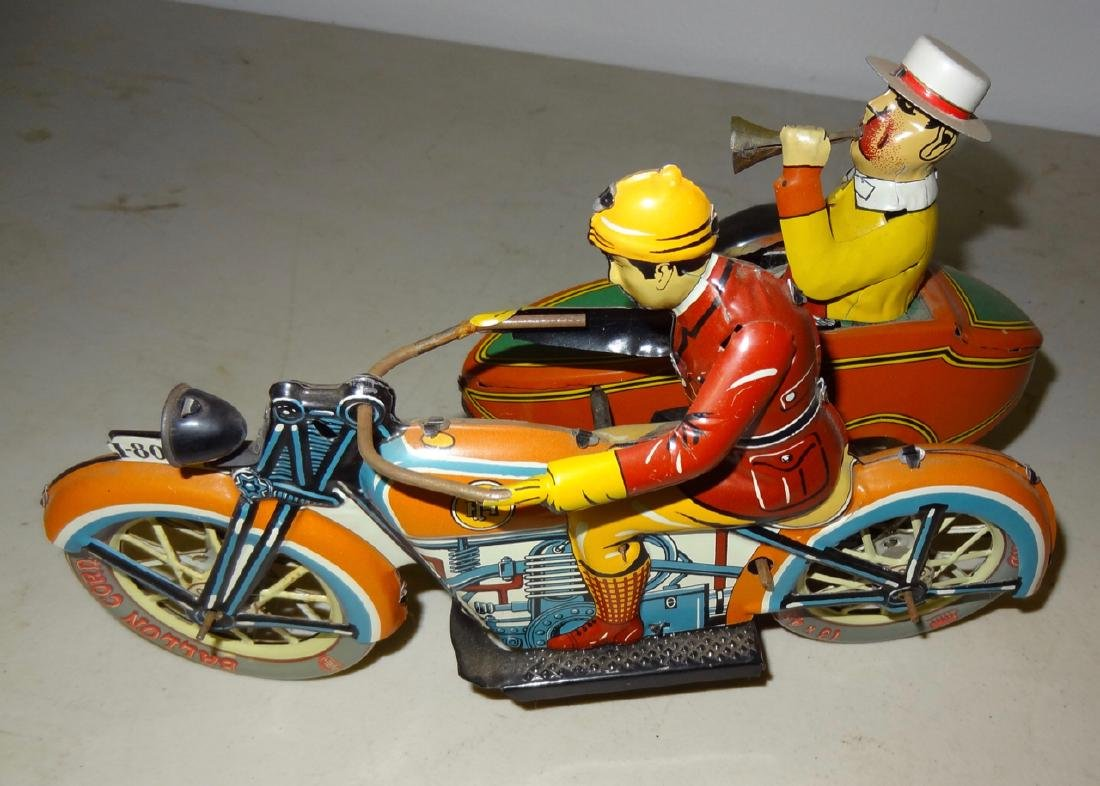 Paya Tin Motorcyle w/Side Car - 2