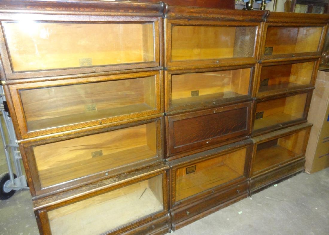Oak Globe Wennicke Stacking Bookcases