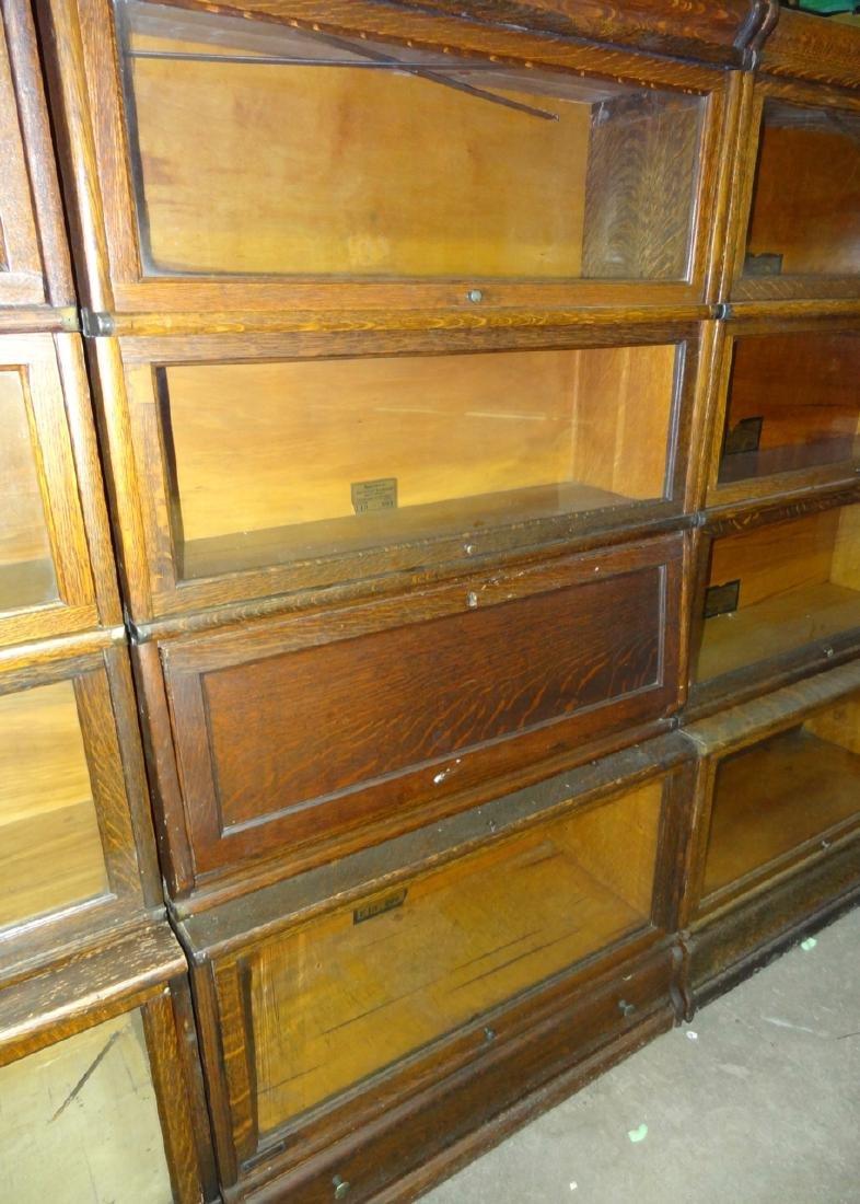 Oak Globe Wennicke Stacking Bookcases - 3