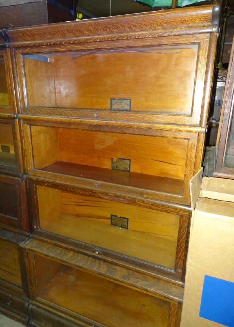 Oak Globe Wennicke Stacking Bookcases - 4