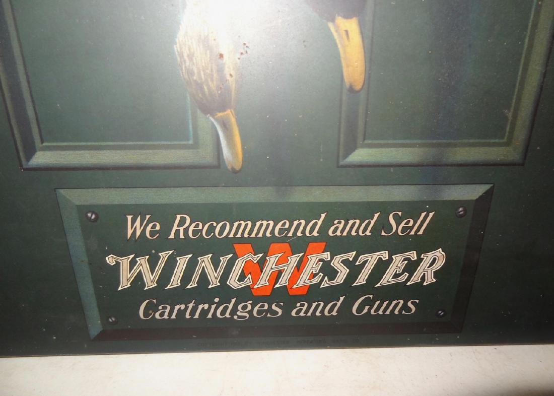 Rare Alexander Pope Tin Winchester Advertising Sign - 4
