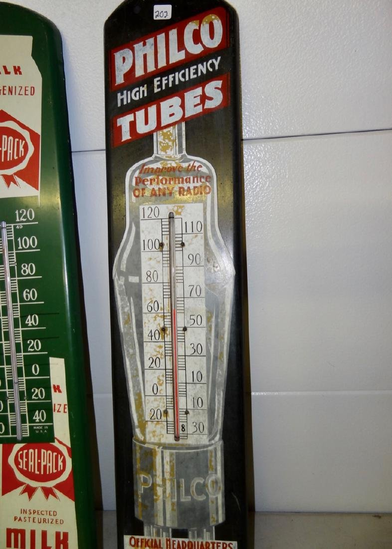 2 Tin Advertising Thermometers - 3