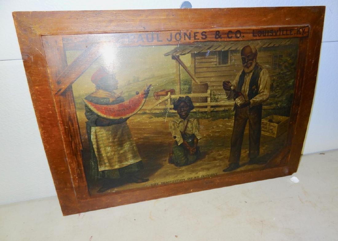 Early Paul Jones & Co. Black Advertising Sign