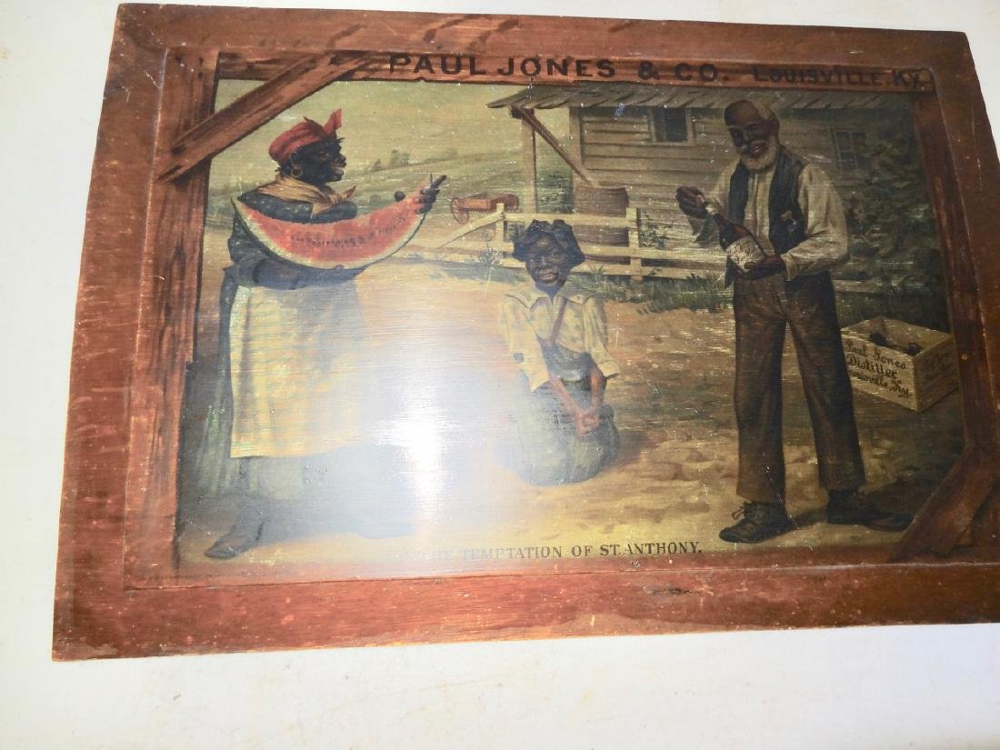 Early Paul Jones & Co. Black Advertising Sign - 2