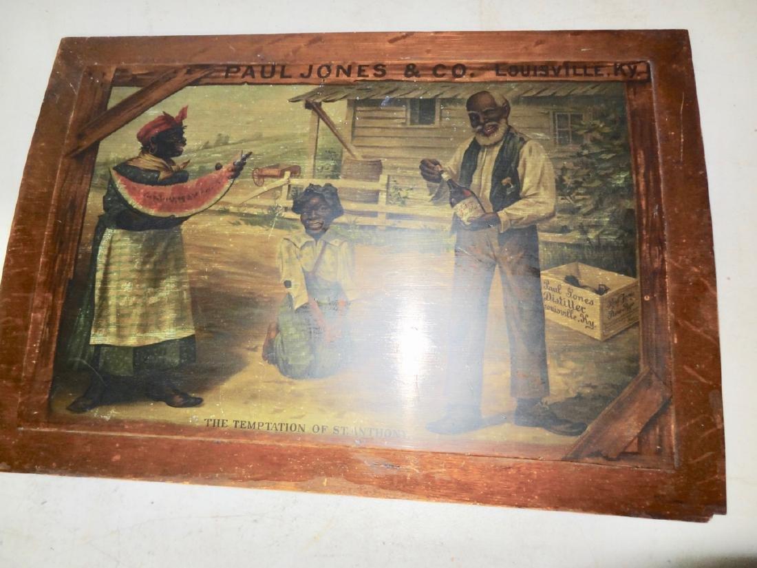Early Paul Jones & Co. Black Advertising Sign - 3
