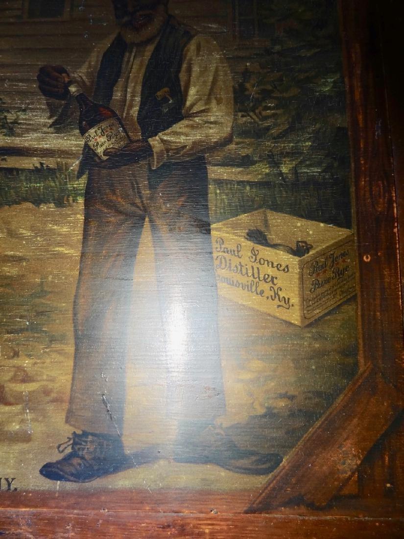 Early Paul Jones & Co. Black Advertising Sign - 4