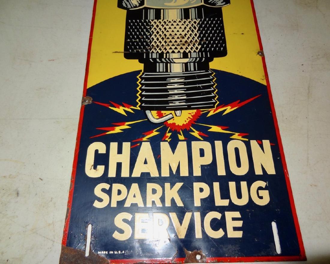 Champion Spark Plug Service Sign Tin - 2