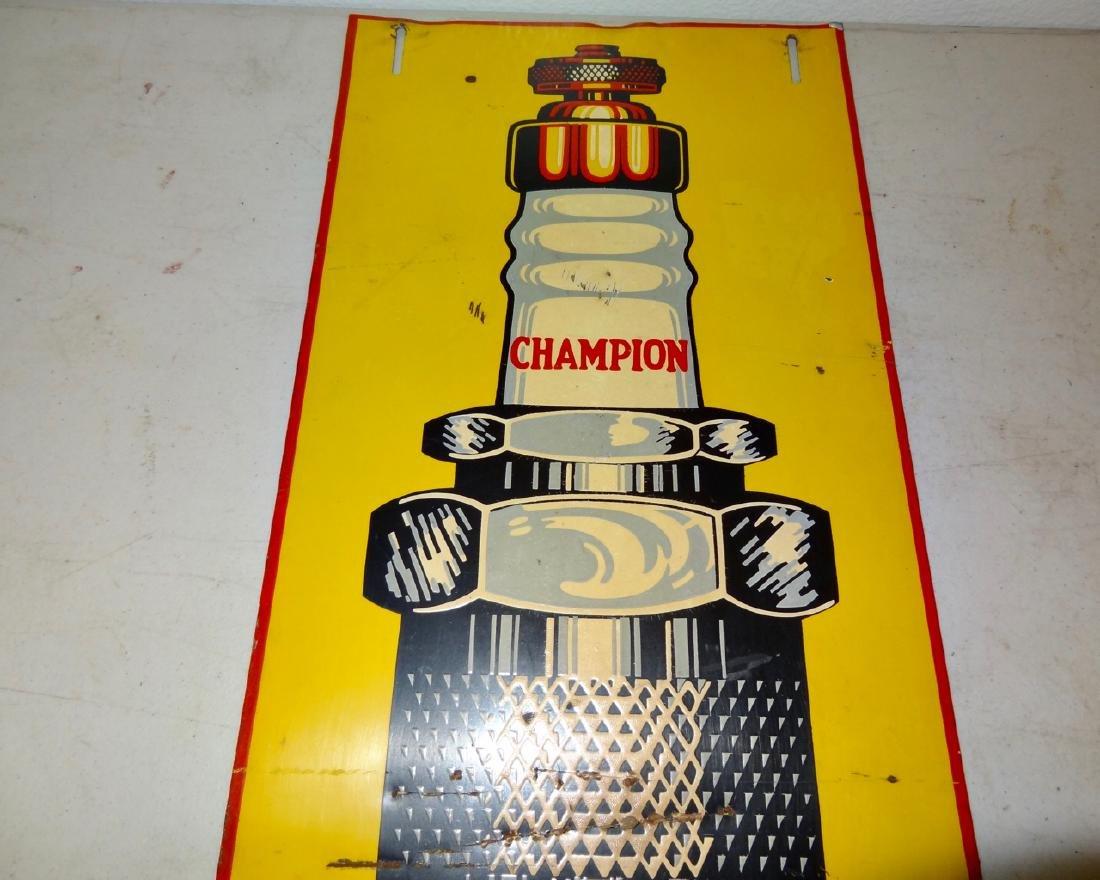 Champion Spark Plug Service Sign Tin - 3