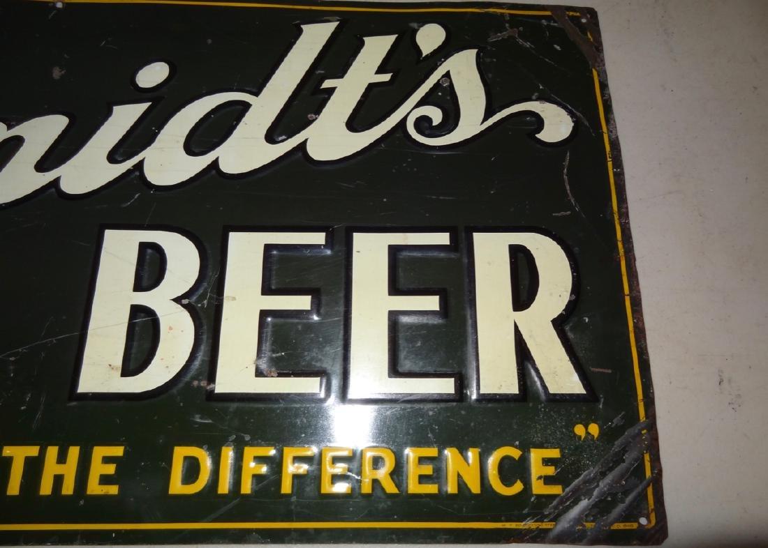 Schmidt's City Club Beer Tin Advertisement - 2