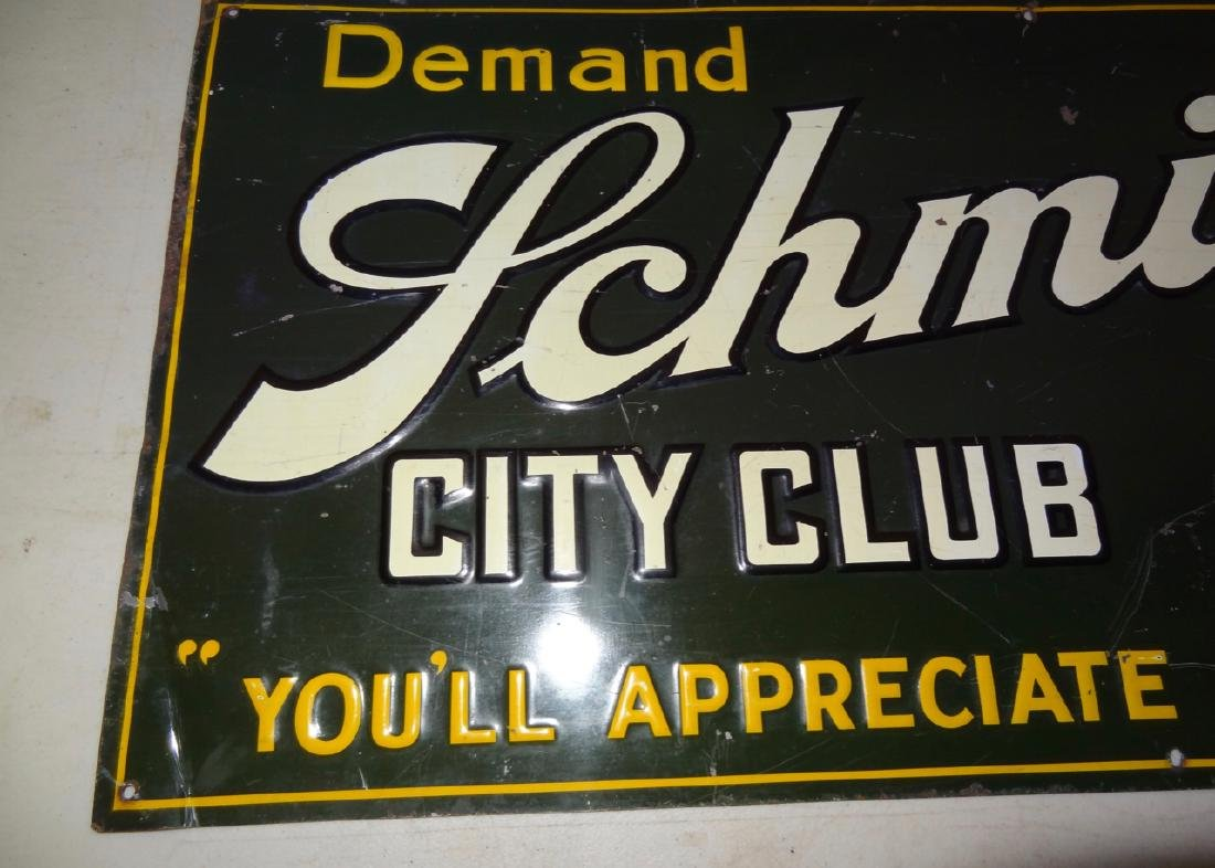 Schmidt's City Club Beer Tin Advertisement - 3