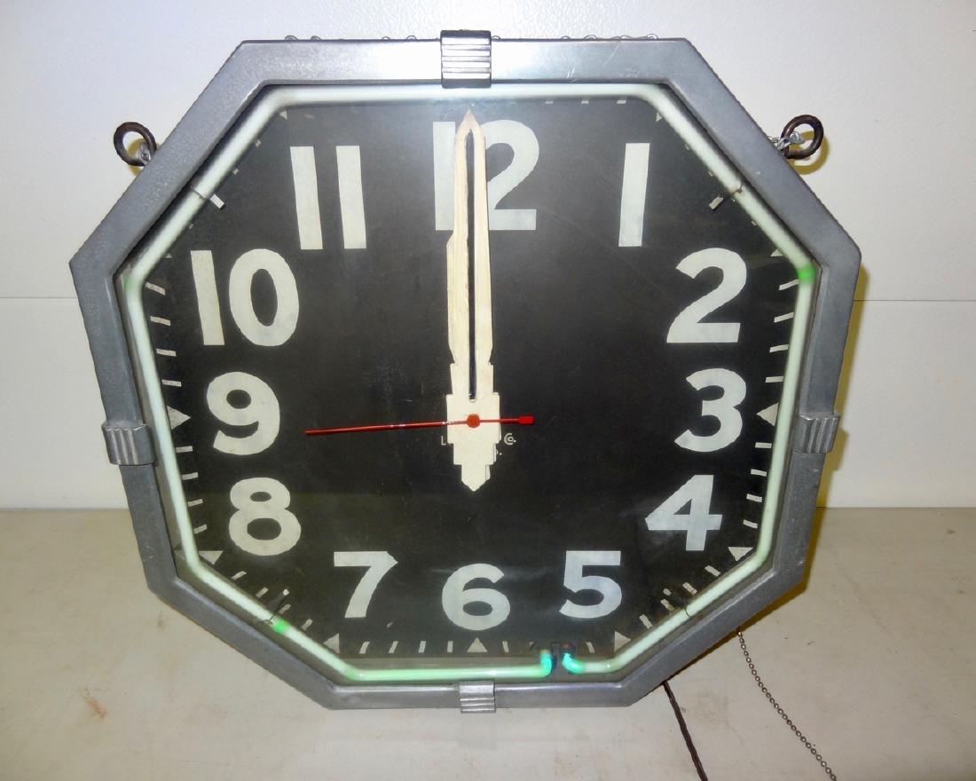 Large Deco Neon Clock