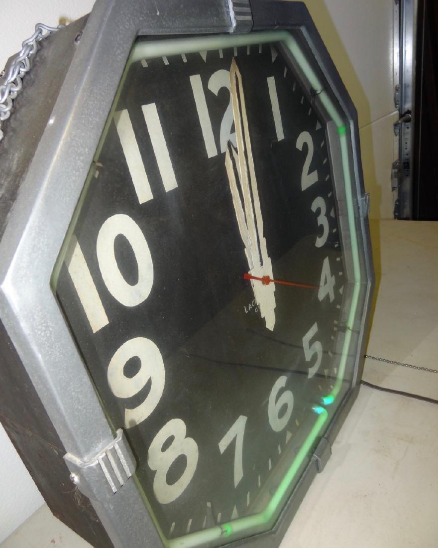 Large Deco Neon Clock - 3