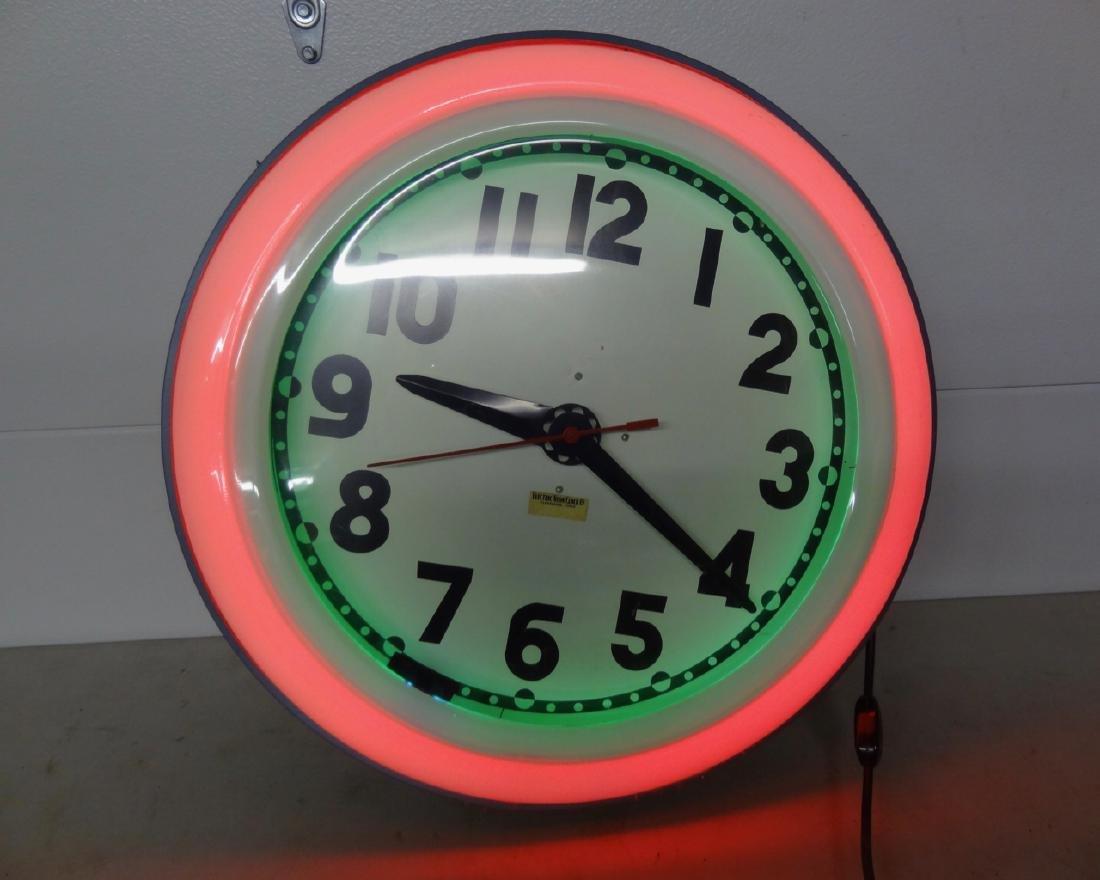 "28"" Round Electric Neon Clock"