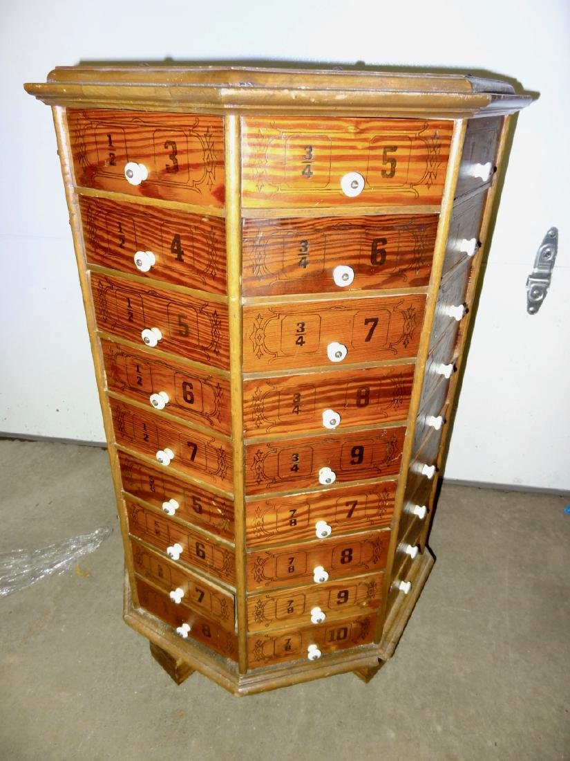 Early Octagon Stenciled Bolt Cabinet - 3