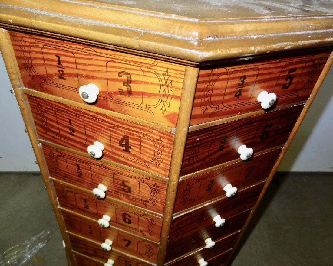 Early Octagon Stenciled Bolt Cabinet - 4
