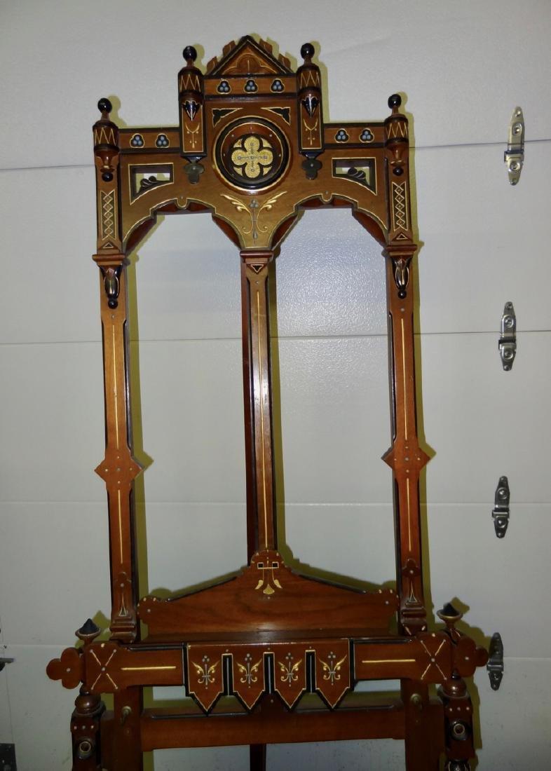 Fabulous Carved Victorian Eastlake Easel - 3
