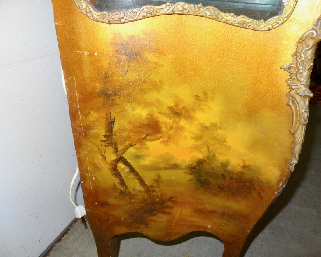 Early Hand Painted Serpentine French Curio - 4