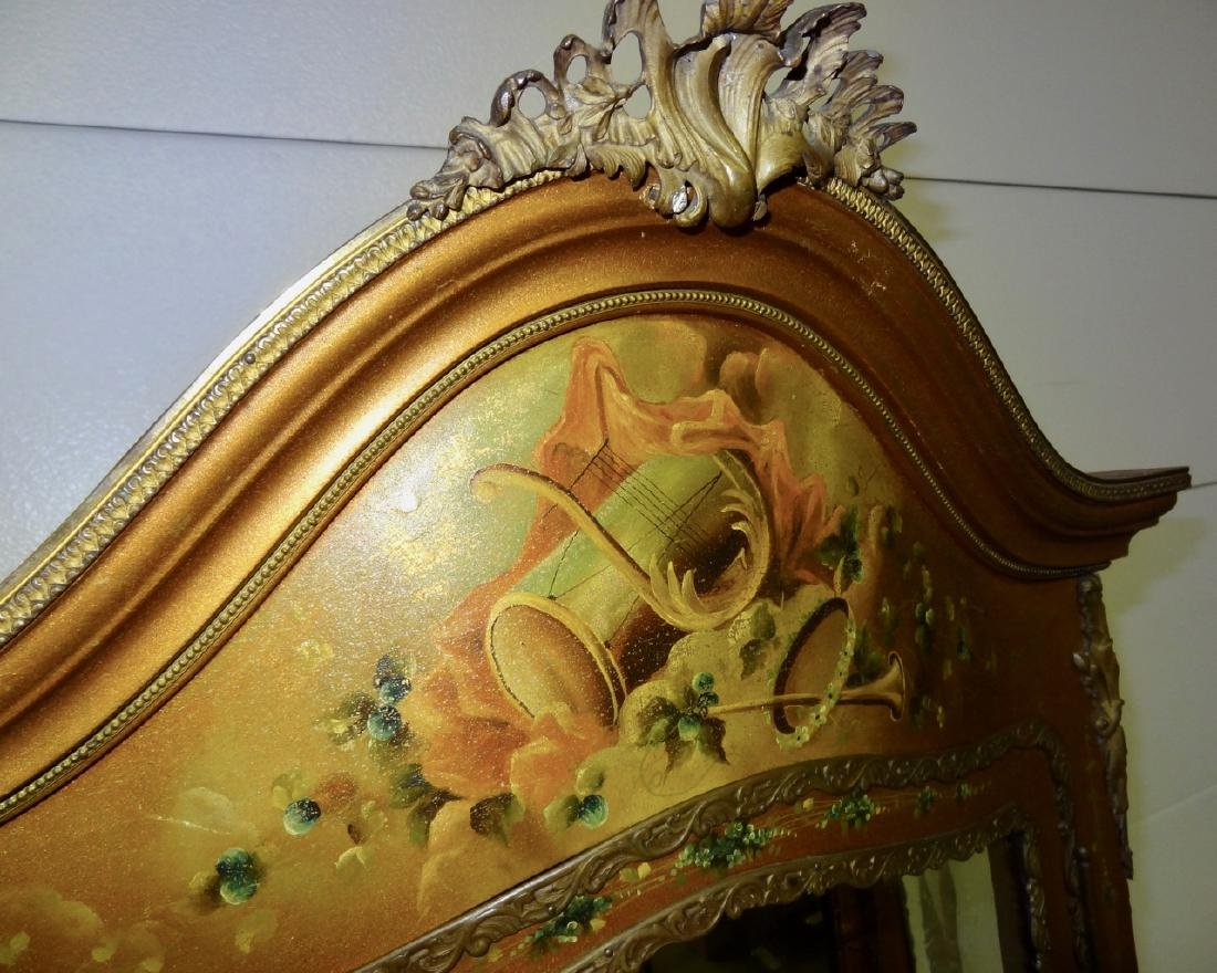 Early Hand Painted Serpentine French Curio - 5