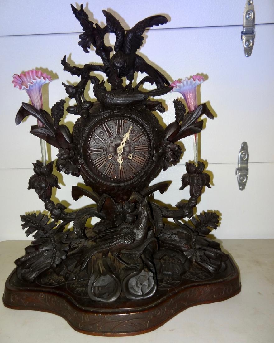 Large Rare Carved Blackforest Clock