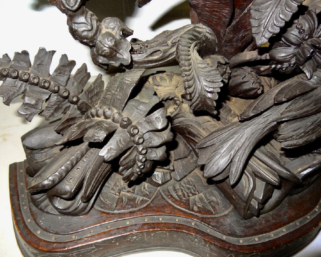 Large Rare Carved Blackforest Clock - 3