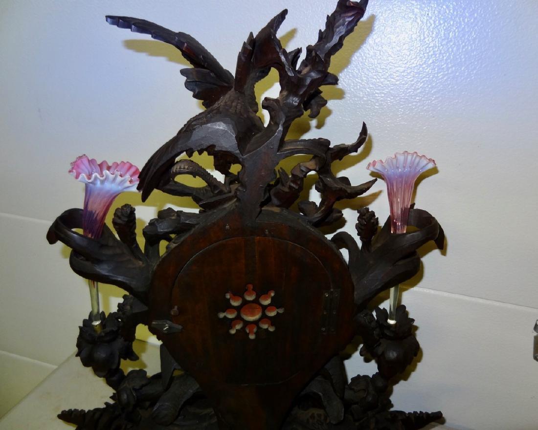 Large Rare Carved Blackforest Clock - 5