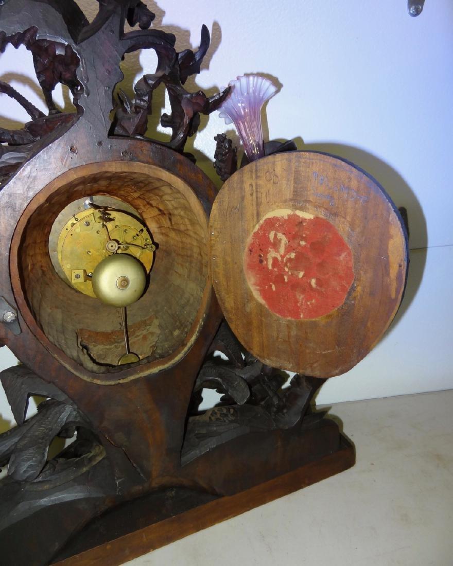 Large Rare Carved Blackforest Clock - 6