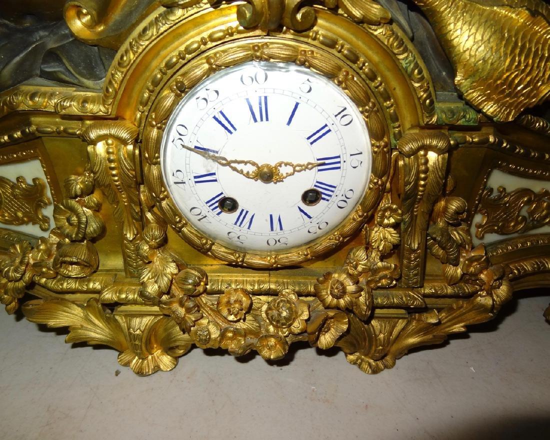 Large Bronze Putti French Mantel Clock - 4