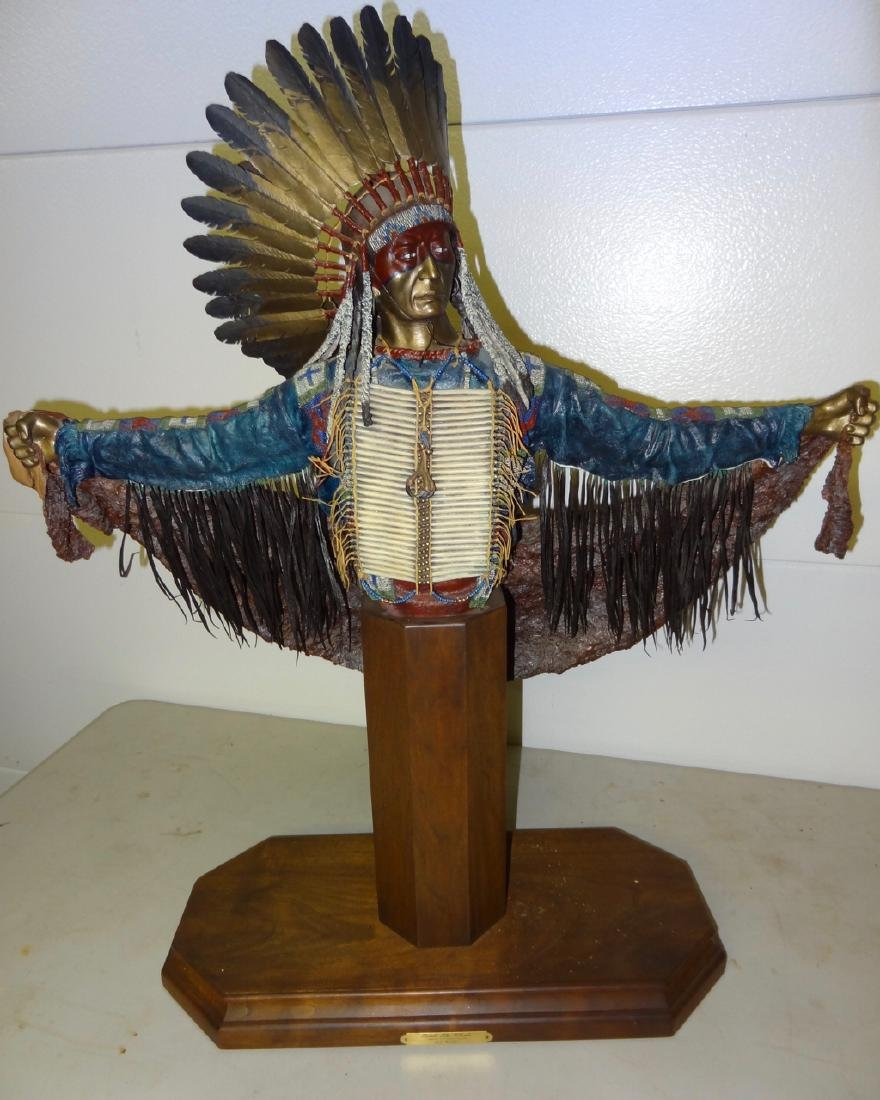 Signed McGary Indian Bronze
