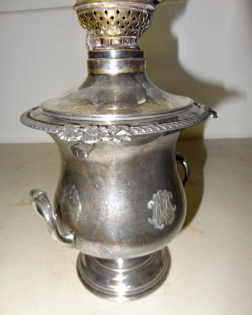 """16"""" Peachbowl Miniature Kerosene Banquet Lamp - 3"""