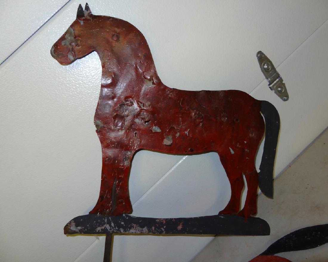 2 Old Horse Weather Vanes - 2