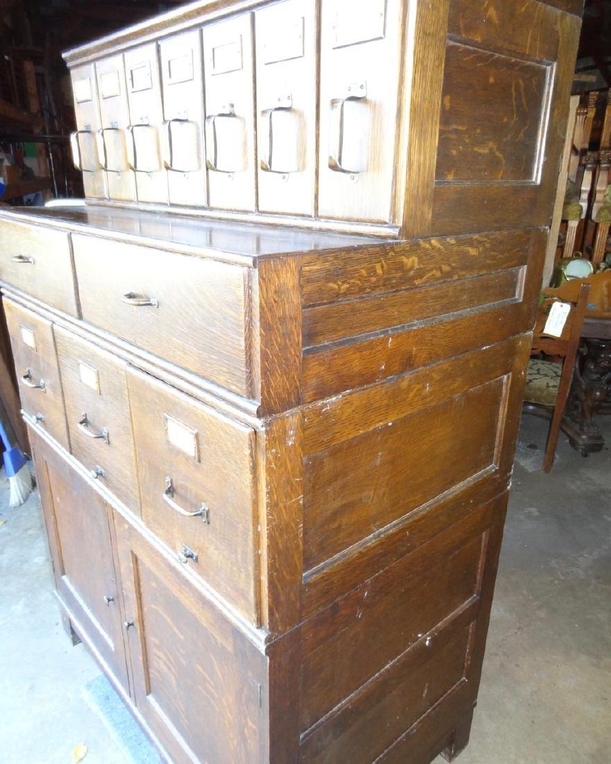 Shaw Walker Oak Stacking File Cabinet - 2