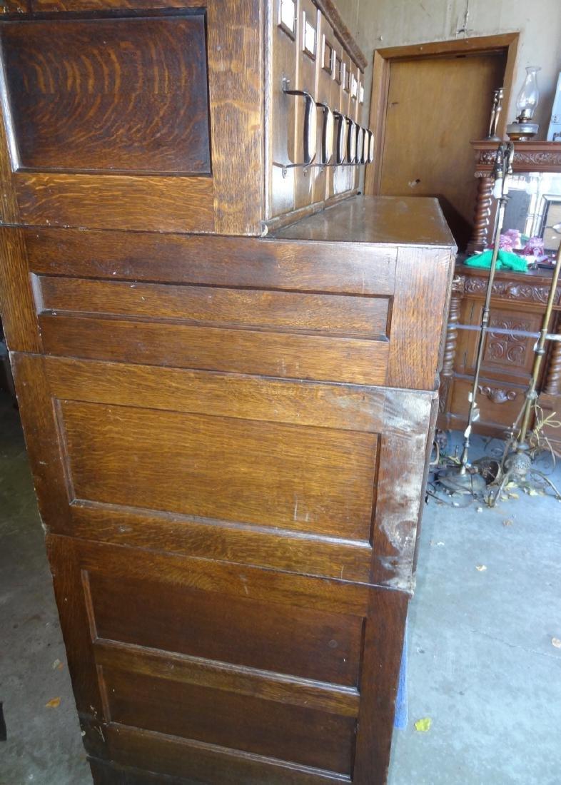 Shaw Walker Oak Stacking File Cabinet - 3