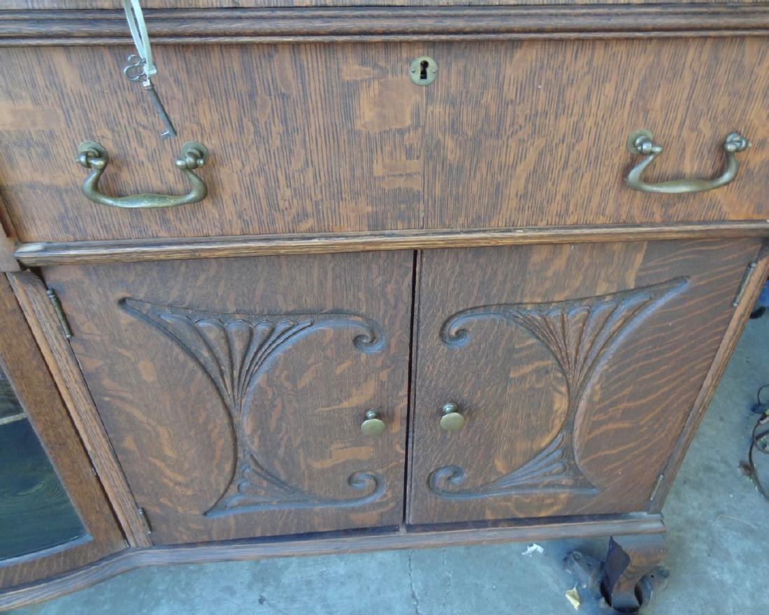 Beveled Leaded Glass China Buffet - 5