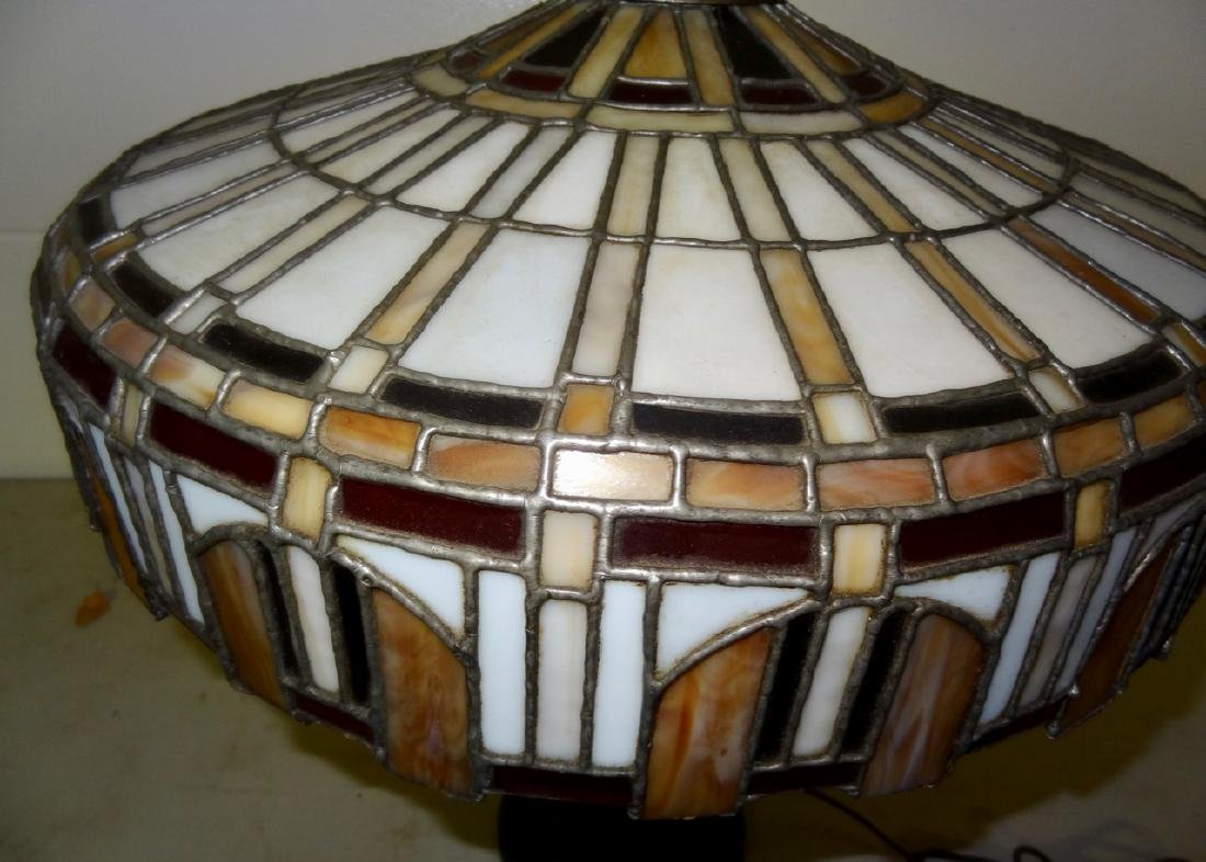 Victorian Stained Glass Table Lamp - 2