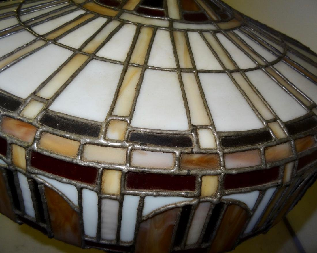 Victorian Stained Glass Table Lamp - 4