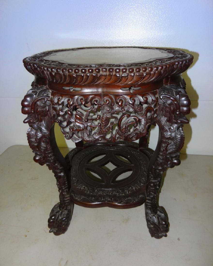 Chinese Marbletop Table