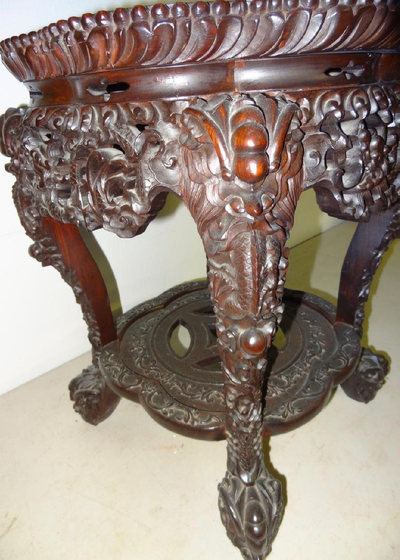 Chinese Marbletop Table - 3