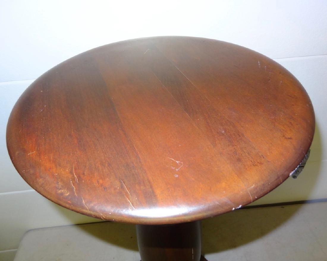 Large Mahogany Pedistal - 3