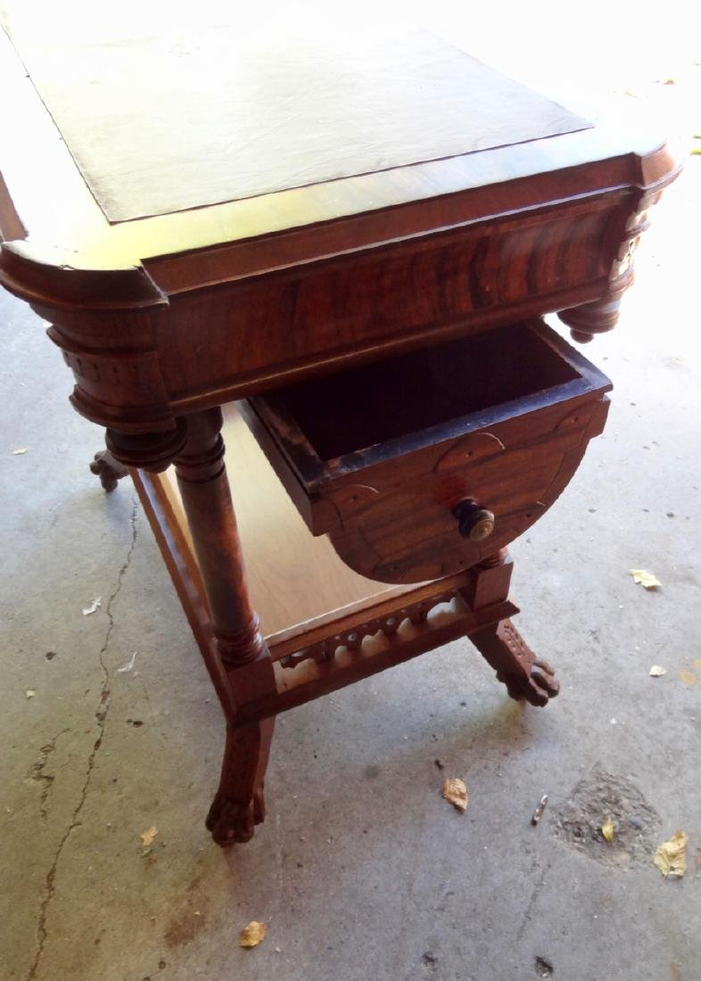 Ornate Victorian Sewing Stand - 5