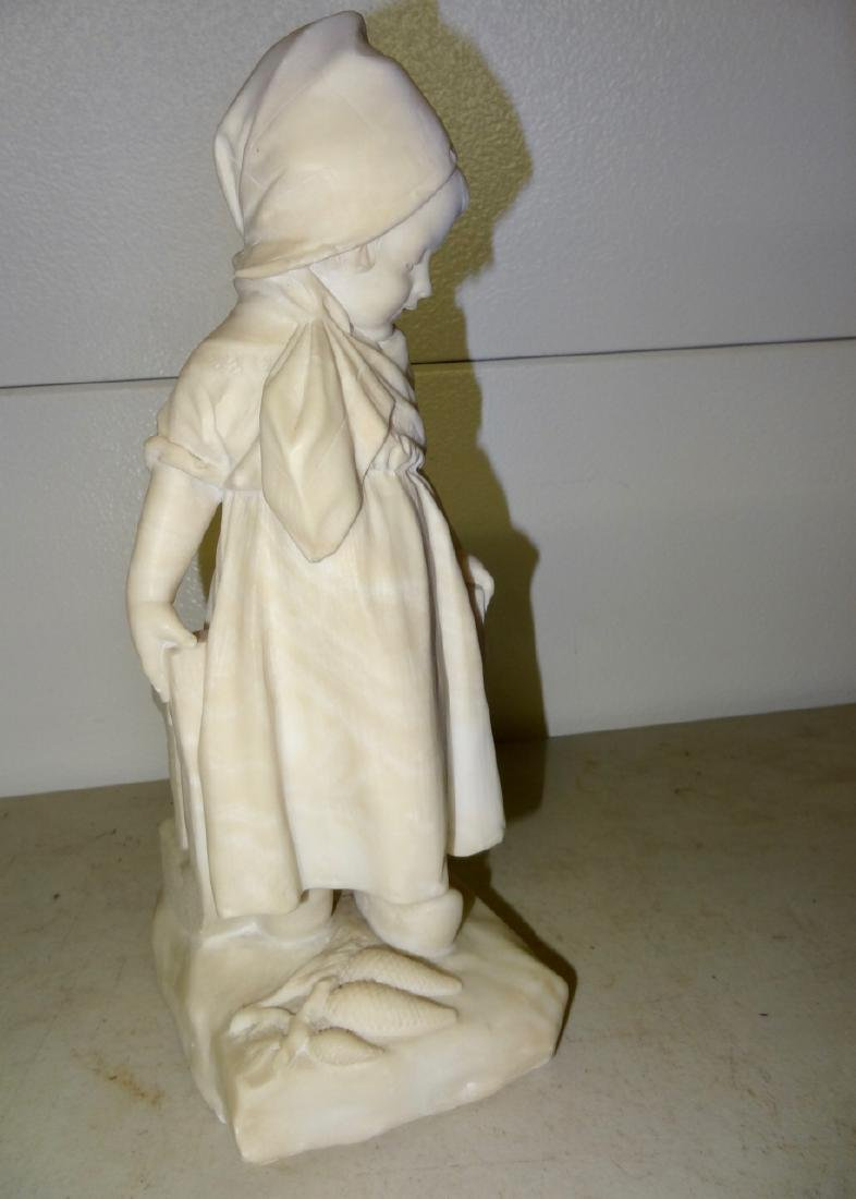 Marble Statue of a Dutch Girl