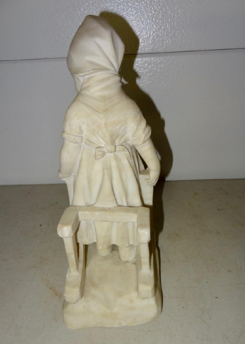 Marble Statue of a Dutch Girl - 3